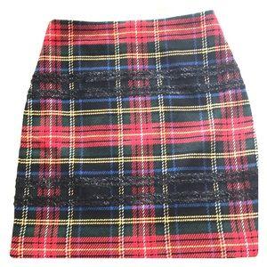 J. Crew Stewart Plaid Lined Skirt NWT